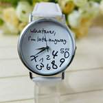 Gofuly New Style ZIZ 'Whatever Im late anyway vrouwen horloge wit