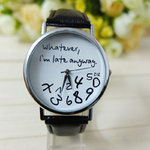 Gofuly New Style ZIZ 'Whatever Im late anyway vrouwen horloge zwart